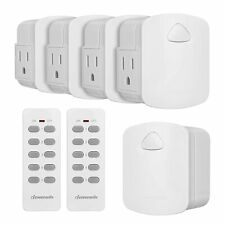 Dewenwils Remote Control Outlet Wireless Remote Light Switch for Lamp Hrs205K