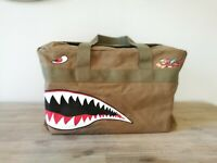 WWII Curtiss P-40 Air Force AVG Flying Tigers Warbird Shark Teeth Duffel Bag