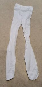 Childrens white ballet tights aged 5-7 used