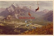 1954 MT. RUNDLE AND BANFF FROM CHAIR LIFT ON MT. NORQUAY cpyrt Byron Harmon phot