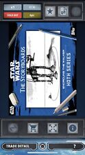 Topps Star Wars Card Trader BLACK Hoth Storyboards Encircling The Walker 35cc
