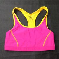 Champion Medium Support Womens Pink Orange Sports Bra Size Medium M Double Dry