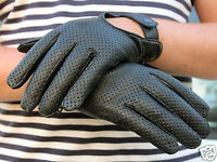 MENS CLASSIC DRIVING GLOVES SOFT GENUINE REAL LAMBSKIN LEATHER TAN BLACK BROWN