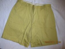 J. CREW  new without tag flat front chino shorts size 36 100% cotton LK NU maize