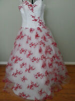 SAMPLE Joli Prom  Custom Beaded Quinceanera  Formal Dress Ball Gown Size 18