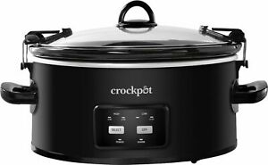 Crock-Pot - Cook & Carry Programmable 6-Quart Slow Cooker - Matte Black