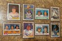 (8) Fernando Valenzuela 1981 1982 Topps Fleer Donruss Rookie Card Lot RC Dodgers
