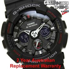 CASIO G-SHOCK MEN WATCH GA-120-1A BLACK GA-120-1ADR 2-YEARS REPLACEMENT WARRANTY