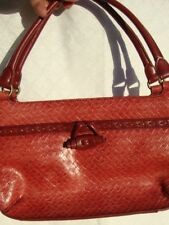Relic Red Woven Leather  Satchel/ Shoulder bag