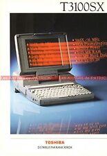 TOSHIBA T3100SX T3100 SX T 3100 Portable Documentation PublicitéVintage