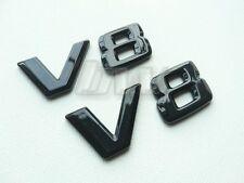 2 X V8 BADGES BLACK GLOSS MERCEDES BENZ C63 S63 E63 ML63 SL63 SL55 CLK55 SL500