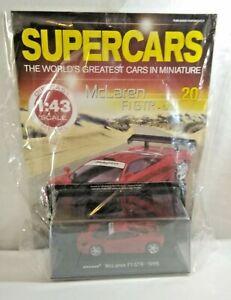 PANINI 1:43 SCALE SUPERCARS #20 - 1995 MCLAREN F1 GTR - FACTORY SEALED