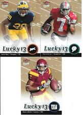 2007 ULTRA LUCKY 13  (3) CARD ROOKIE LOT SEE LIST & SCAN FREE COMBINED S/H