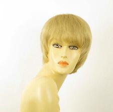 perruque femme 100% cheveux naturel courte blonde ref LALIE 22
