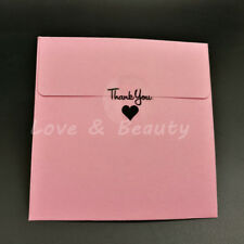 120pcs Round Transparent Thank you With black love Heart Sealing Sticker 3cm