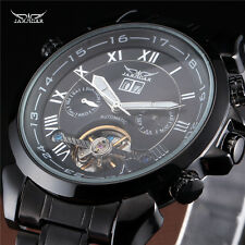 Date Vintage Day Mens Mechanical Wrist Watch Tourbillon Full Black Hot Fashion