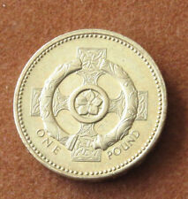 Libra Redondo £ 1. 1996 N.I. Cruz Celta. Uncirculated. muy Buen Estado.