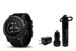 Garmin Descent MK1 Sapphire Dive Watch GPS Computer w/ Wearable4U Power Bundle