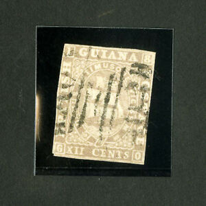 British Guiana Stamps # 8a VF Used proof Scott Value $1,600.00