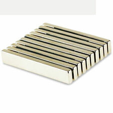 Fridge Bar Block Magnet Strong Rare Earth Neodymium N52 Neo Strip 60 x 10 x 4 mm
