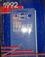 1992 Chevrolet G Van Truck Shop Service Manual