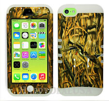 For Apple iPhone 5c KoolKase Hybrid Armor Silicone Cover Case - Camo Mossy Duck