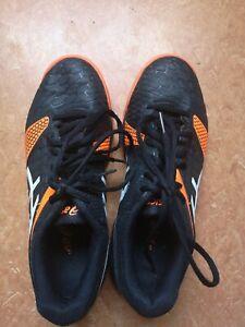 Asics Hockey Hallenschuhe Gr. 37.5 23,5cm Schwartz orange, junior
