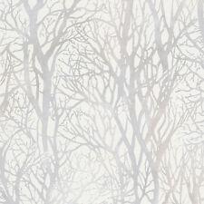 Gemusterte Tapeten mit Wald fürs Schlafzimmer