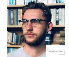 WARBER EYEWEAR- Semi-Rimless Vintage Blue Light Blocking Computer Gamer Glasses