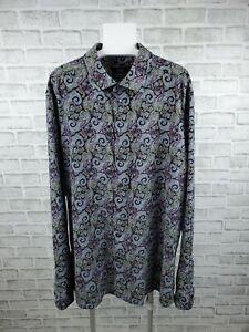 ETON Ganghester 1928 Contemporary Fit Paisley Corduroy Shirt Size 19/48