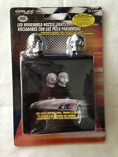 Skull 2x Chrome Universal Windshield Washer Jet Spray Nozzle White fits Chrysler