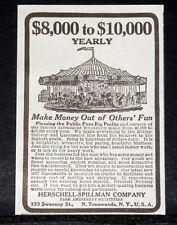1917 OLD MAGAZINE PRINT AD, HERSCHELL-SPILLMAN, EVERYTHING IN CAROUSSELLE LINE!