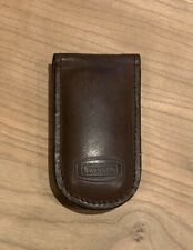 Men's Authentic FOSSIL Genuine Leather Magnetic Money Clip Wallet Brown