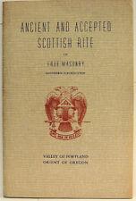 ANCIENT AND ACCEPTED SCOTTISH RITE OF FREE MASONRY PORTLAND OREGON 1946 Masonic