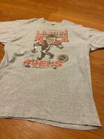 Vintage 1980's SAN FRANCISCO 49ers JOE MONTANA Single Stitch SHIRT SZ. MEDIUM
