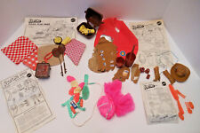 Vtg Barbie lot Play pak Western Round up PICNIC workout PEACHES BARETTES ETC