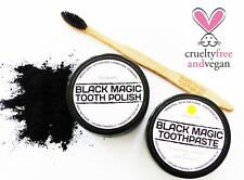 ACTIVATED CHARCOAL TOOTH POWDER  NATURAL COCONUT OIL LEMON TOOTHPASTE TOOTHBRUSH