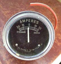 CLASSIC CAR AMPERES GAUGE - F.CLAUDET - 5cm Vintage Volt Dash Dashboard Meter