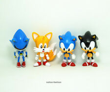 """Set of 4 pcs New Sonic the Hedgehog Tails Shadow action figures Anime  3"""" Gift"""