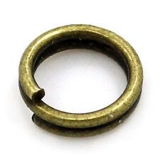 100 Anneaux de jonction Bronze 5 mm Double 5mm creation bijoux, bracelet, ...