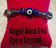Code 441 Angel Aura, Crystal + Evil Eye for added protection Bracelet Spiritual