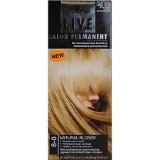 ^ SCHWARZKOPF LIVE SALON PERMANENT HAIR DYE COLOUR NATURAL BLONDE 8.0 8-0