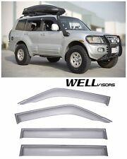 WellVisors Side Window Visors Premium Series For 01-06 Mitsubishi Montero