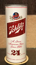 1980s Bottom Open 24 Ounce Tall Boy Schlitz Stay Tab Beer Can 7 City Detroit