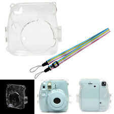 Transparent Camera Shell Case Cover Bag + Strap For Fuji Fujifilm Instax Mini 8