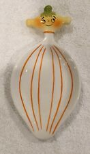 PIXIEWARE GRANT HOWARD SERVIETTE, White with Orange Strips