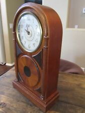 VICTOR CLOCK ANTIQUE ART DECO RARE Style Inlaid Wood Vintage WORKS! RCA VICTOR