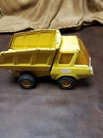 Vintage Tonka Metal Dump Truck Yellow Toy Small Pressed Steel - Rare