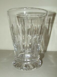 Stuart England Heavy Clear Glass Crystal Vase, Excellent Condition!