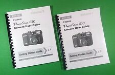 LASER Printed Canon G10 Power Shot Full Camera 305 Page Owners Manual Guide